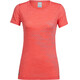 Icebreaker Sphere Fracture - T-shirt manches courtes Femme - rouge